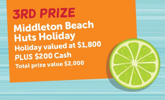 Third Prize Middleton Beach Hut Holiday